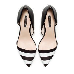 ZARA woman stripe heels